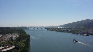 portland bridge view